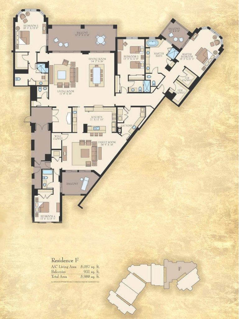 Floor Plans of the Madeira - Madeira - Marco Island, FL